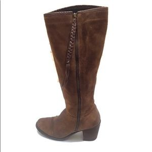 STEVEN BY STEVE MADDEN LEATHER KNEE HIGH BOOTS